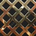 Polished Brass Grille 10mm Diamond Hole Perforated Sheet 2000mm x 1000mm x 0.7mm